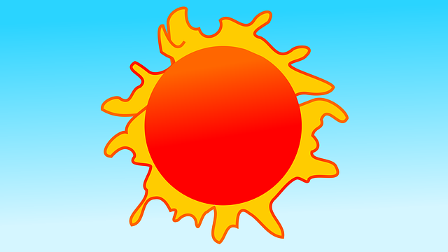 kreslené slunce