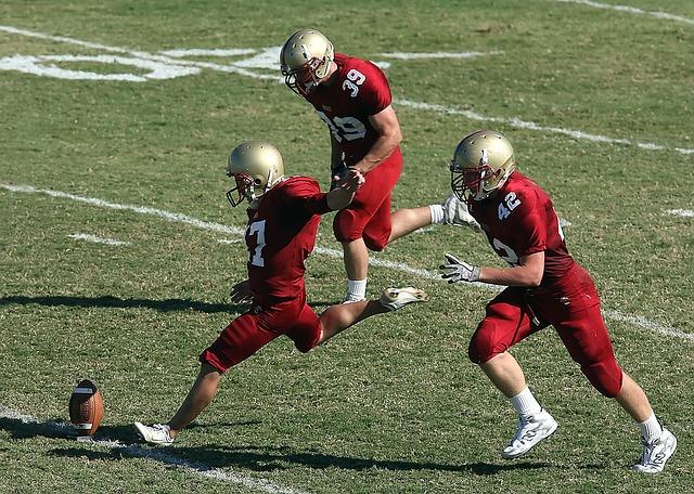 americký fotbal, tři hráči