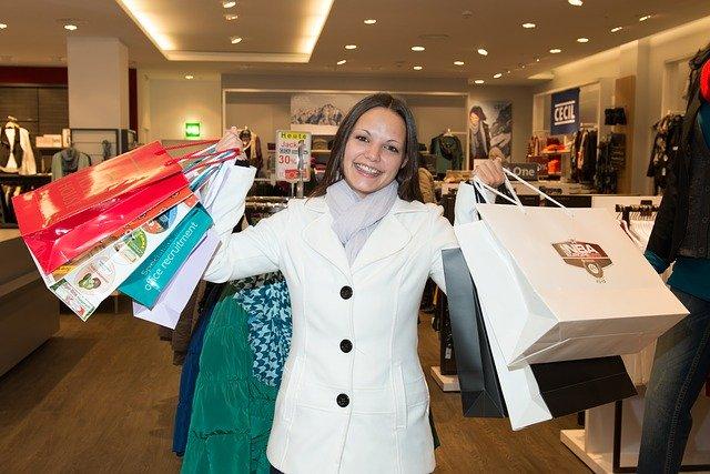 nákupy + žena