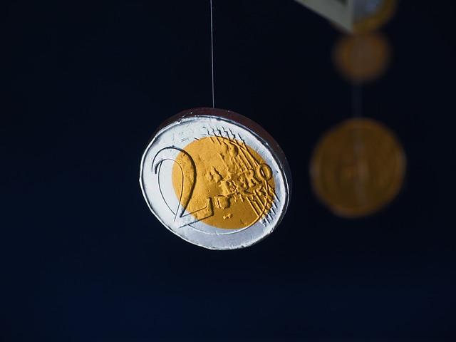 2 euro, mince, čokoládové peníze